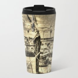 Thames Sailing Barges Vintage Travel Mug