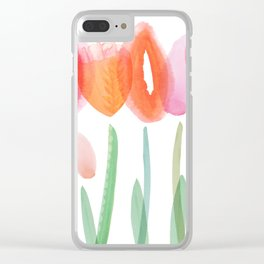 Joyful Flowers Clear iPhone Case