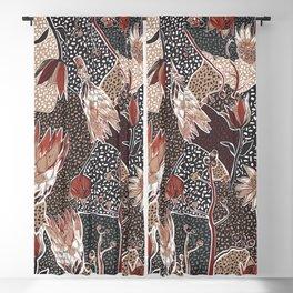 Australian native flower pattern Blackout Curtain