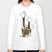 pocket fuel Long Sleeve T-shirts featuring Skull Fuel by Allbrotnar
