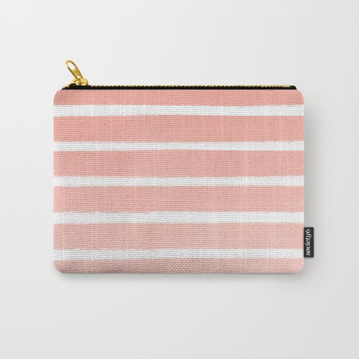 Stripes minimal ombre pattern basic nursery office dorm canvas wall art Carry-All Pouch