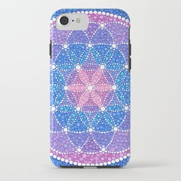 Starry Flower of Life iPhone Case