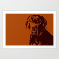 the dude Art Prints featuring Dude by Brooke Copani