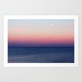 Indigo Horizon Art Print