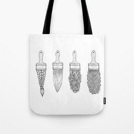 Brush type Tote Bag