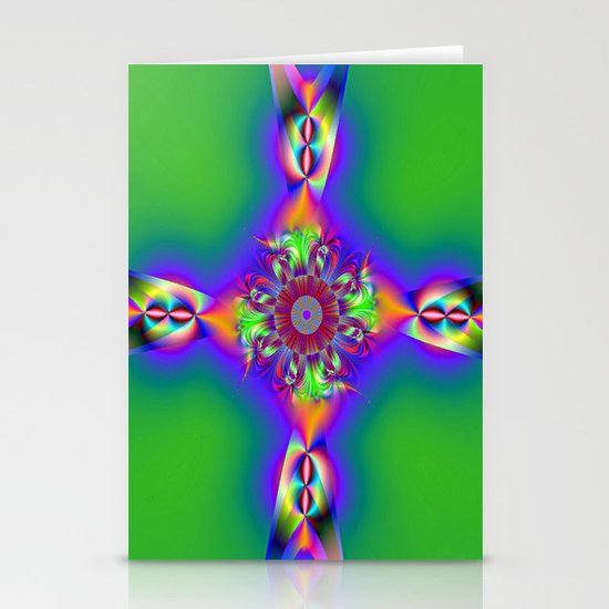 FishTail cross Stationery Cards