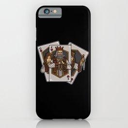 Poker Cards Getting Alive | Card Dealer Gambler iPhone Case