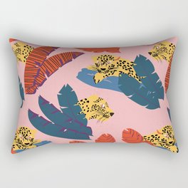 Leopards in the forest // Forest collection // Pattern design Rectangular Pillow
