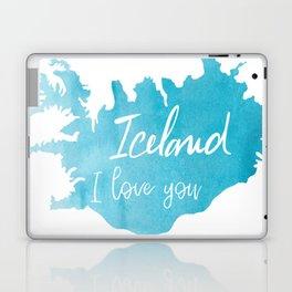 Iceland I love you - ice version Laptop & iPad Skin