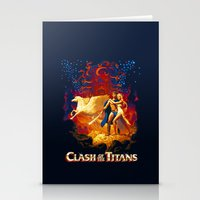 teen titans Stationery Cards featuring Titans by CromMorc