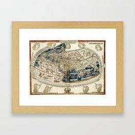 World Map 1482 Framed Art Print