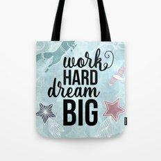 Work Hard Dream Big - Space Fox Hustle Tote Bag