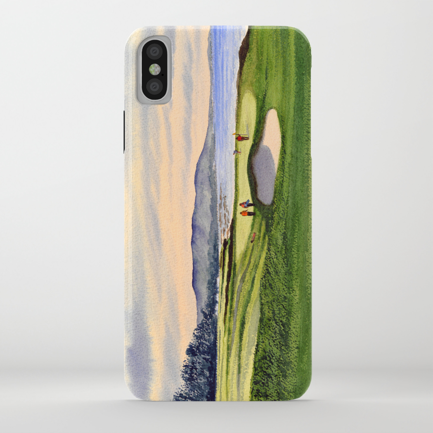 Pebble Beach Golf Course 9th Green Iphone Case By Billholkham Society6