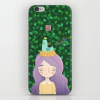 birdy iPhone & iPod Skins featuring Birdy by chicapato