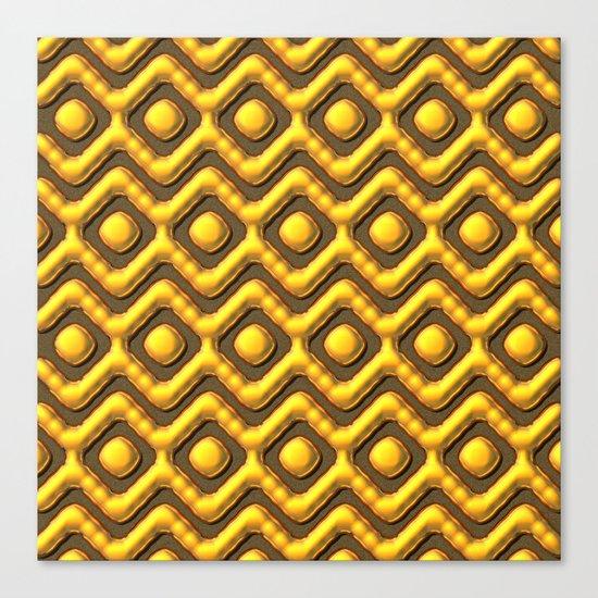 Liquid Gold Pattern Canvas Print