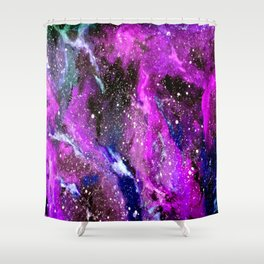 Galaxy (pink) Shower Curtain