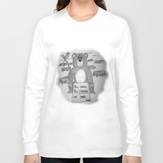 Sad bear 2 Long Sleeve T-shirt