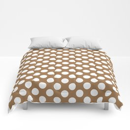 Brown and white polka dots Comforters