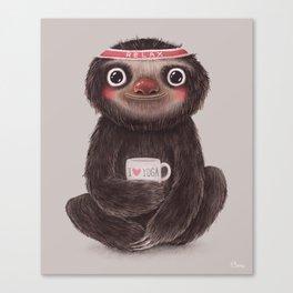 Sloth I♥yoga Canvas Print