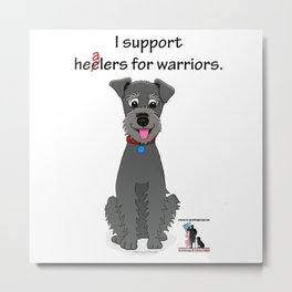 Schnoodle Supporting Healers Metal Print