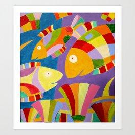 Fische Art Print