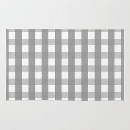 Gray Checkerboard Gingham Rug