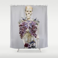 lungs Shower Curtains featuring lilac lungs. by Les Garcons Sauvages