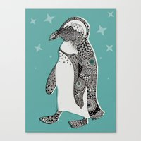 penguin Canvas Prints featuring Penguin by Rachel Russell