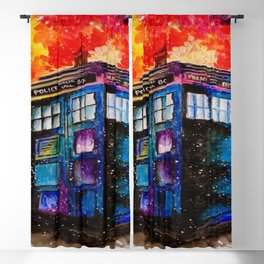 Doctor Who Tardis Painting Blackout Curtain