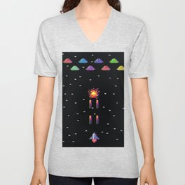 Spaceships and Aliens  Unisex V-Neck