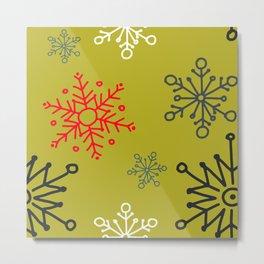 Christmas Snowflakes Pattern 1 Metal Print