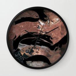 Black desert waters Wall Clock