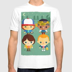 Stranger and things MEDIUM Mens Fitted Tee White