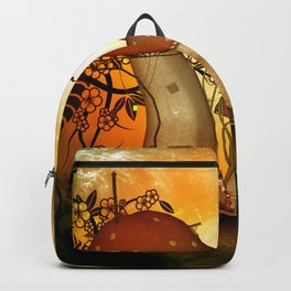 The fairy house in the night Backpack