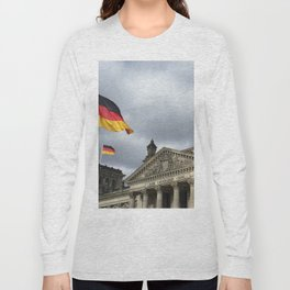 Reichstag in storm Long Sleeve T-shirt