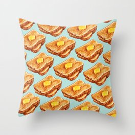 Toast Pattern Throw Pillow