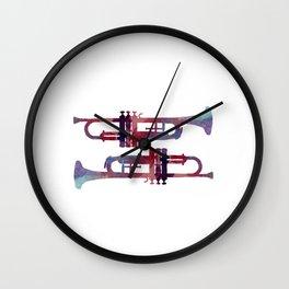 Trumpets Wall Clock