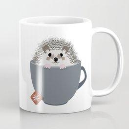 Holiday Tea Cup Hedgehog Coffee Mug