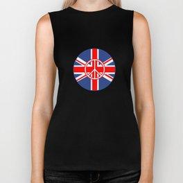 Brit Flag Peace Sign Roundel Biker Tank