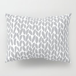 Hand Knit Zoom Grey Pillow Sham
