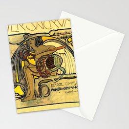 "Koloman (Kolo) Moser ""Ver Sacrum Poster"" Stationery Cards"