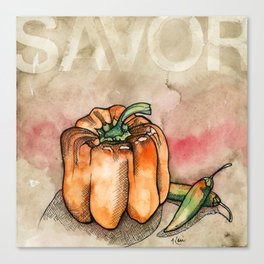 Savor (Pepper) Canvas Print