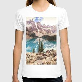 Moraine Lake III Banff Summer Mountain Reflection T-shirt