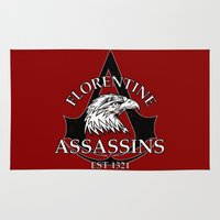 assassins creed Area & Throw Rugs featuring Florentine Assassins by adho1982