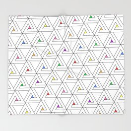 Triangulated Colours Throw Blanket