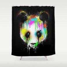 Panda Paint Face Shower Curtain