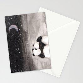 Panda love -watercolor Stationery Cards