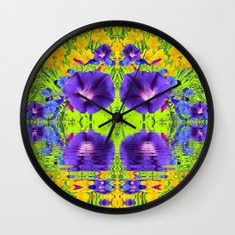 MORNING GLORIES WATER GARDEN REFLECTION Wall Clock