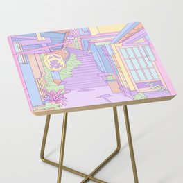 Lost in the Alleys of Japan Side Table