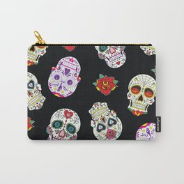 Sugar Skull Pattern Carry-All Pouch